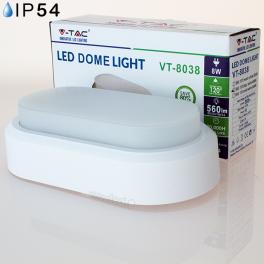 Aplique LED 8w»40W Luz Fria 560Lm ROW DOME