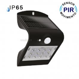 Aplique led solar c sensor pir 1 5w 220lm bbb ip65 - Aplique solar exterior ...