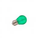 Lâmpada LED E27 2W«10W Luz VERDE 60Lm G45