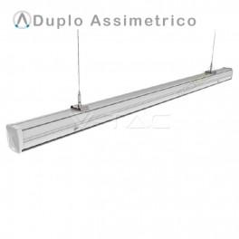 Armadura compacta LED MASTER TRUNKING 50W dupla assimetrica