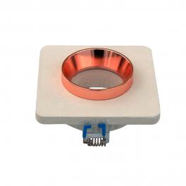 Aro GU10 fixo V-TAC Concrete branco c/aro MATT ROSE GOLD s