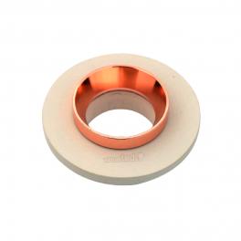 Aro GU10 fixo V-TAC Concrete branco c/aro MATT ROSE GOLD r