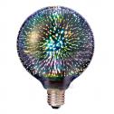Lâmpada LED E27 3000K 40Lm G125 FILAMENT 3D