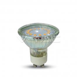 Lâmpada LED GU10 3w»25W 110º Luz Fria 200Lm GLASS