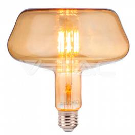 Lâmpada LED E27 8W 2200K 620Lm T180 Vidro Ambar