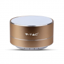 Coluna Bluetooth Metalizada Gold - Bateria 400mAh