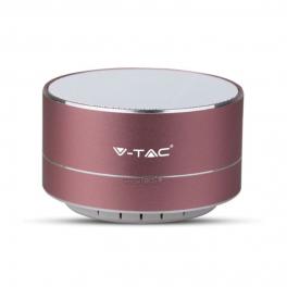 Coluna Bluetooth Metalizada Rose Gold - Bateria 400mAh