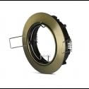 Aro GU10 orientável V-TAC Ouro redondo