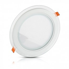 Painel LED 12W 4000K 840lm Moldura em Vidro R