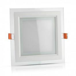 Painel LED 18W 4000K 1260lm Moldura em Vidro Q