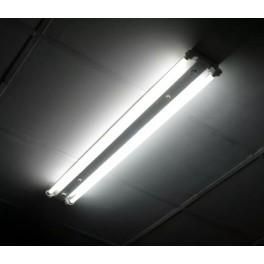 KIT armadura LED T8 2x120cm Luz Fria IP20