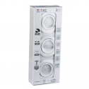 GU10-Aros + Lâmpadas 5W 6400K, 3pc