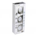 GU10-Aros Brancos+ Lâmpadas 5W 3000K, 3pc