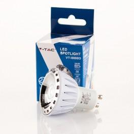 Lâmpada LED GU10 5w»45W 40º Luz Fria 300Lm Regulável