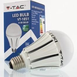 Lâmpada LED E27 20w»110W Luz Natural 1700Lm A80 SAMSUNG