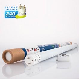 18W 120cm T8 270º GLASS Branca Fria 1600Lm