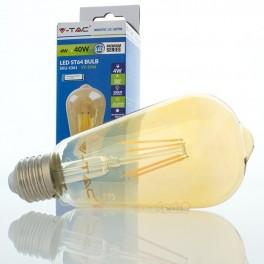 Lâmpada LED E27 4w»40W 2200K 350Lm ST64 EDISON VINTAGE