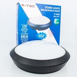 Candeeiro LED Teto 12W L.Natural c/ Radar 5,8GHz 840Lm IP66