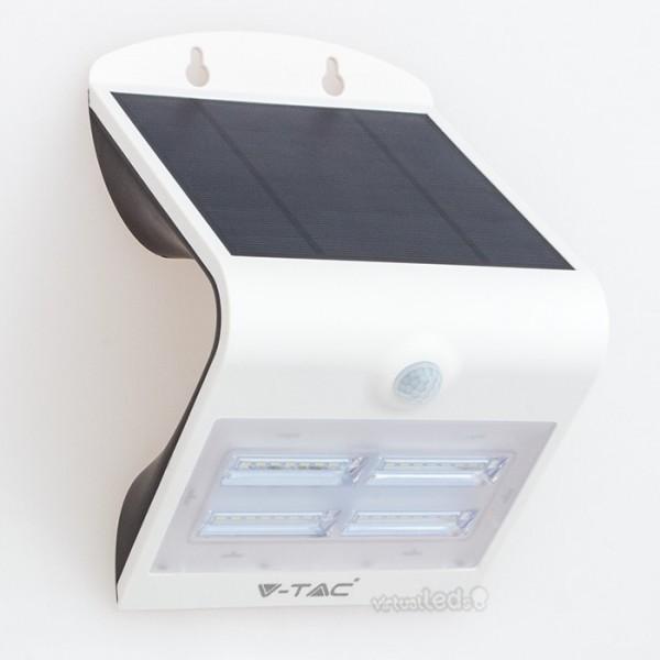 Aplique led solar c sensor pir 3w 400lm wbb ip65 - Aplique solar exterior ...