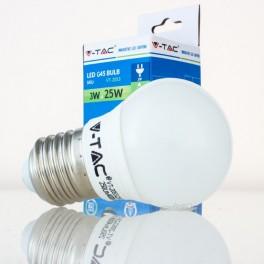 Lâmpada LED E27 3w»25W Luz Natural 250Lm G45 GOLFBALL
