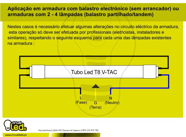 Circuito Tubo Led : Virtualleds portugal